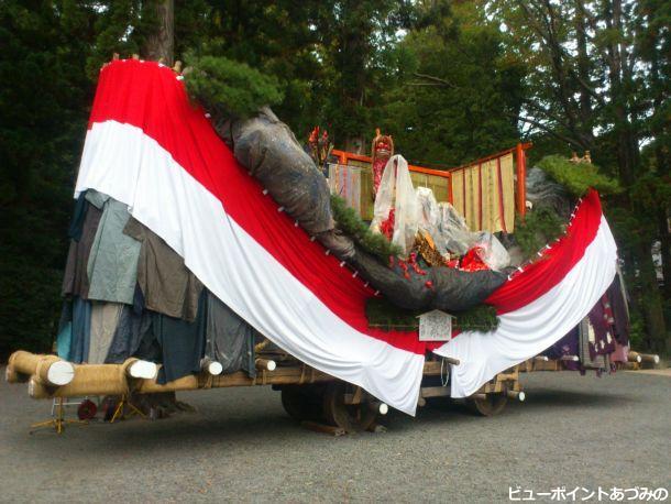 穂高神社の御船