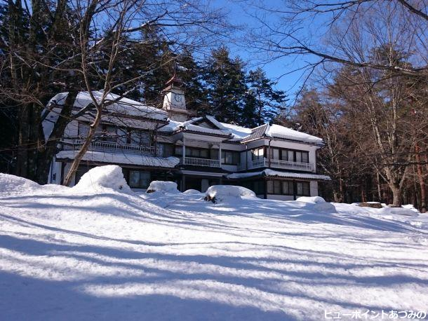 時計台の雪景色
