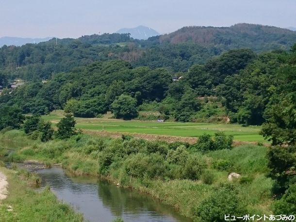 木戸橋からの常念岳