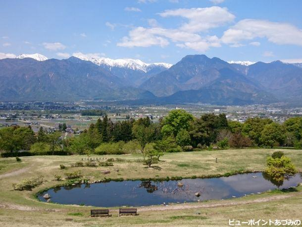 空と池と北アルプス