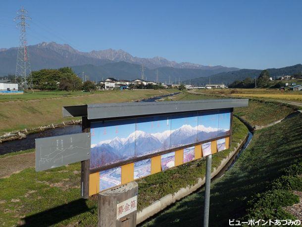 農具川と後立山連峰