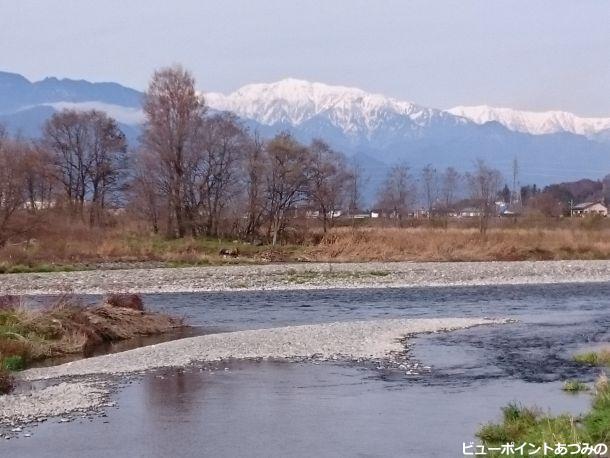 犀川と蓮華岳