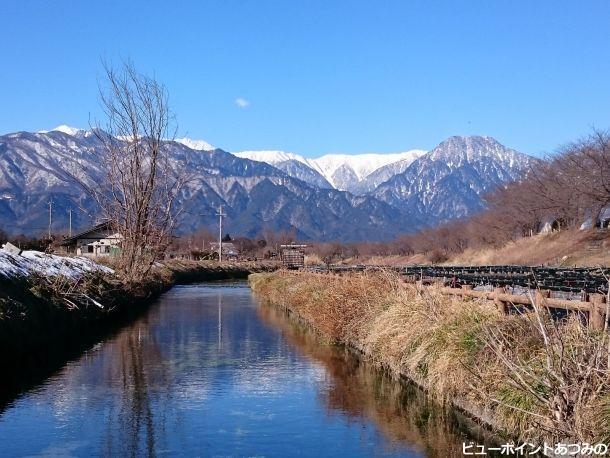 湧水路と信濃富士