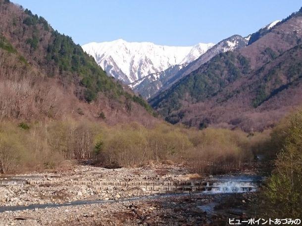 籠川と岩小屋沢岳