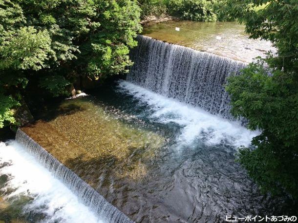 渓流の水飛沫