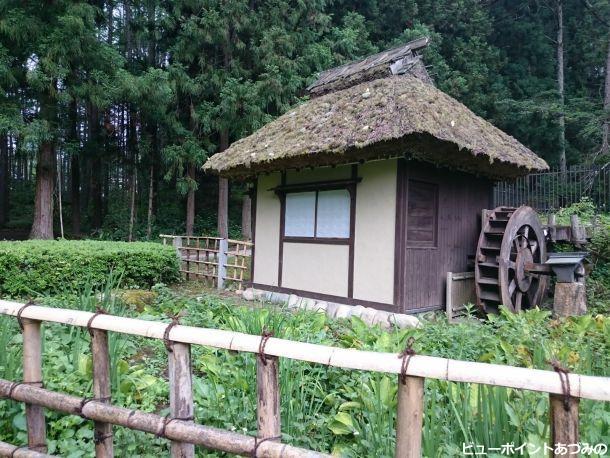 茅葺の水車小屋