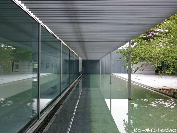 透明感のある中庭