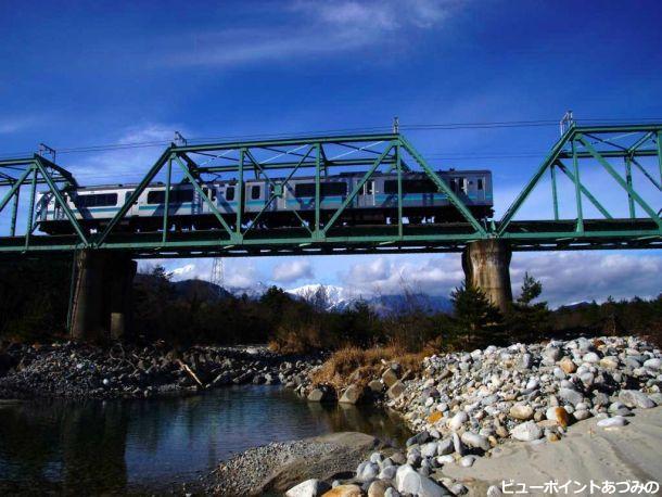 高瀬川と大糸線