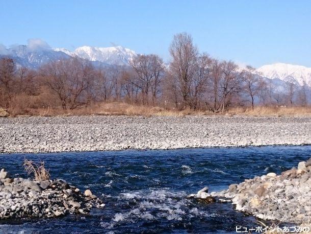 犀川と北アルプス