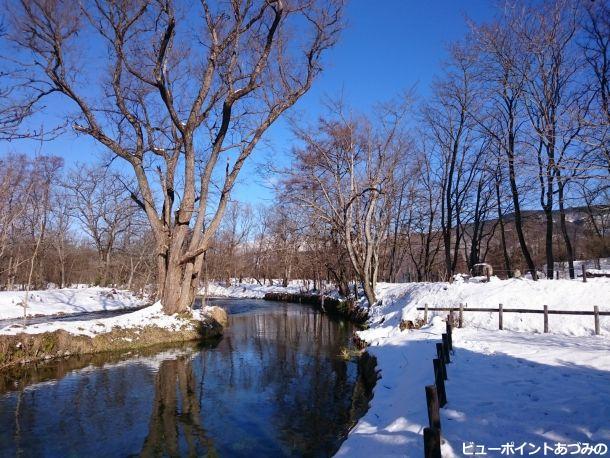 万水川雪景色