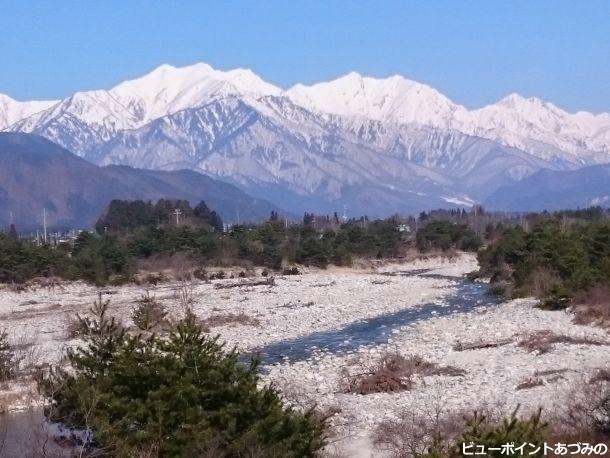 宮本橋から望む後立山