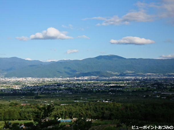 松本平と鉢伏山