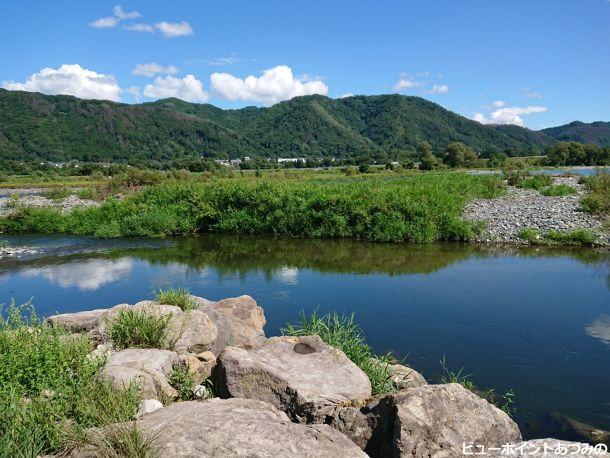 犀川と光城山