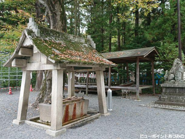 穂高神社の手水舎