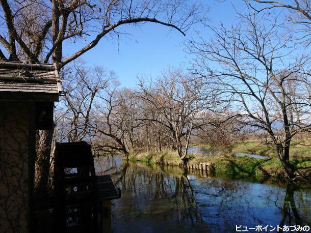 蓼川と水車小屋