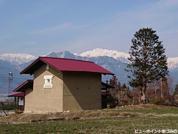 土蔵と蓮華岳