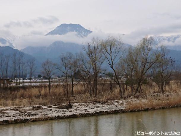穂高川と信濃富士