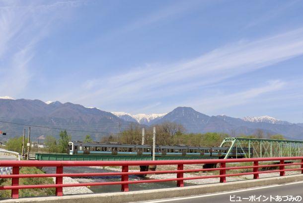 有明山と大糸線