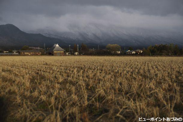 安曇野市 冬の朝