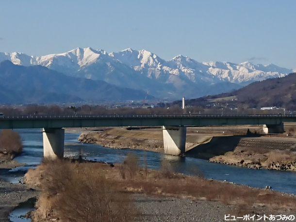 犀川と後立山連峰