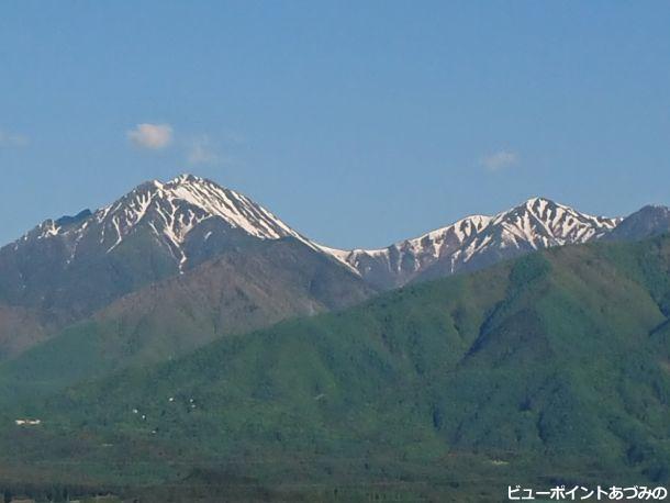 常念岳と横通岳