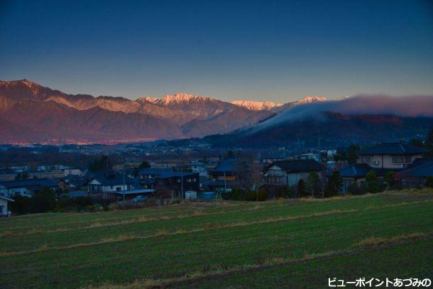 後立山連峰の黎明