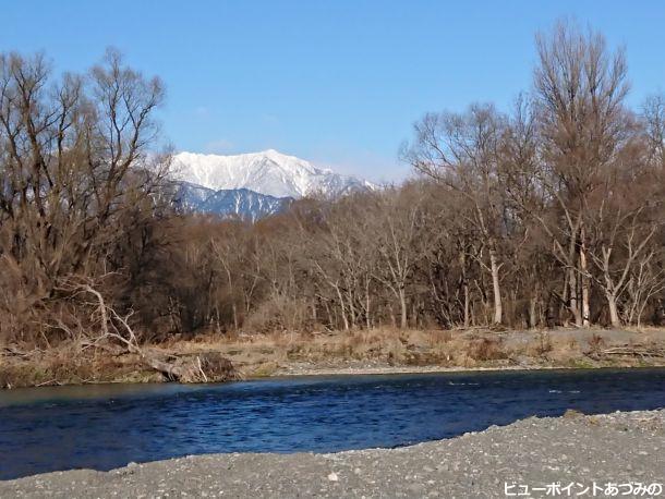 犀川と餓鬼岳