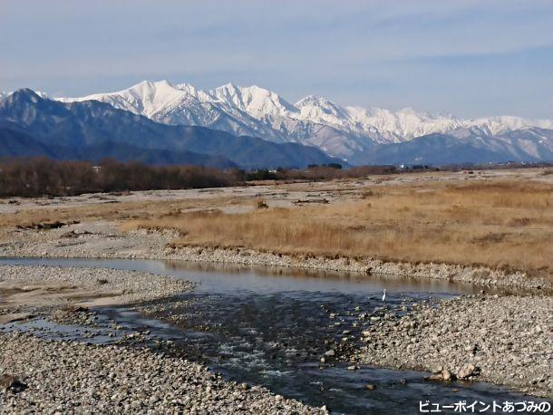 高瀬川と後立山連峰