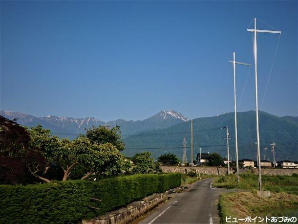 幟柱と常念岳