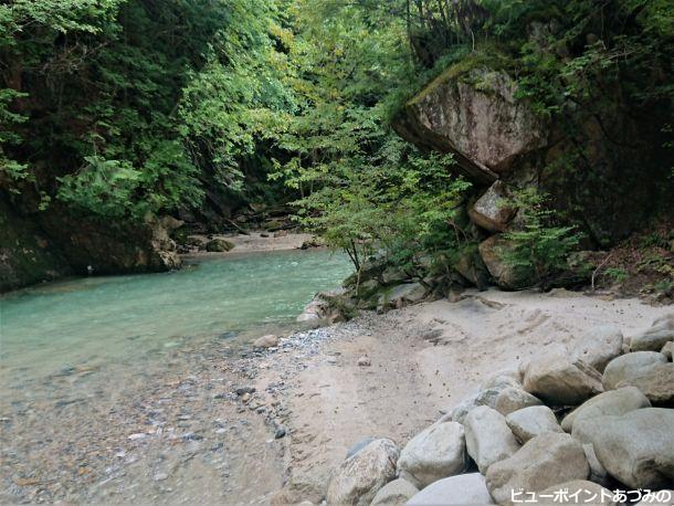 有明砂の渓流