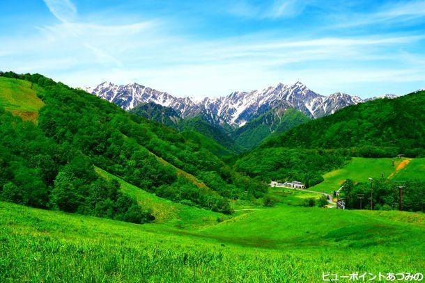 爺ヶ岳と鹿島槍ヶ岳