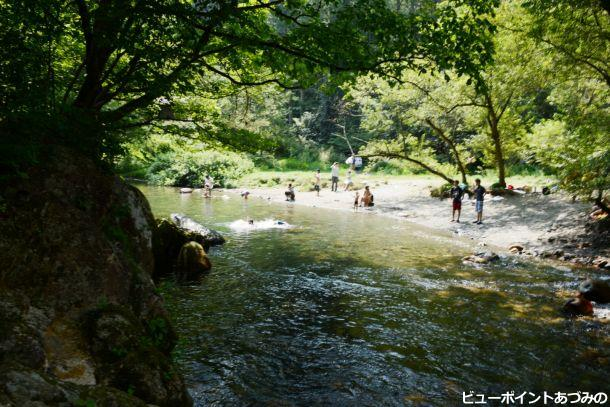 川遊び(烏川渓谷)