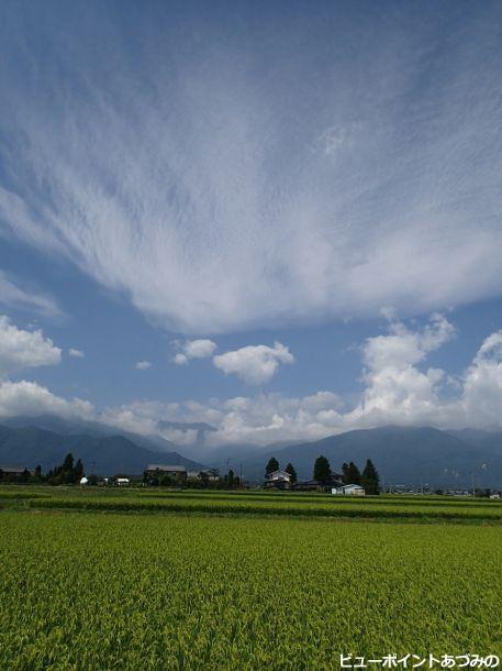 安曇野の農村風景