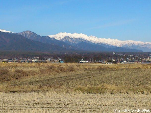 冬の白馬連峰