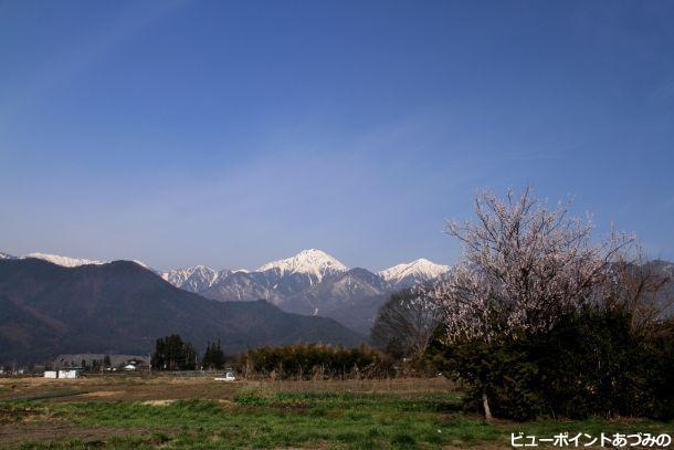 早春の常念岳