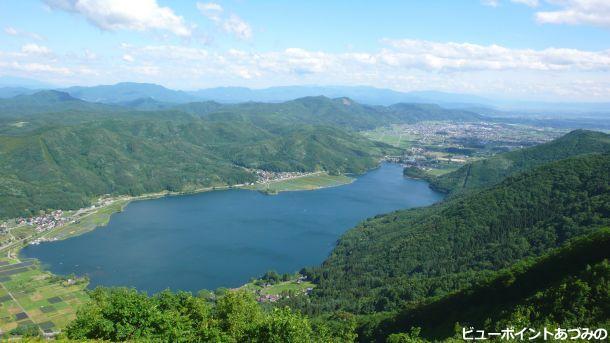 木崎湖俯瞰