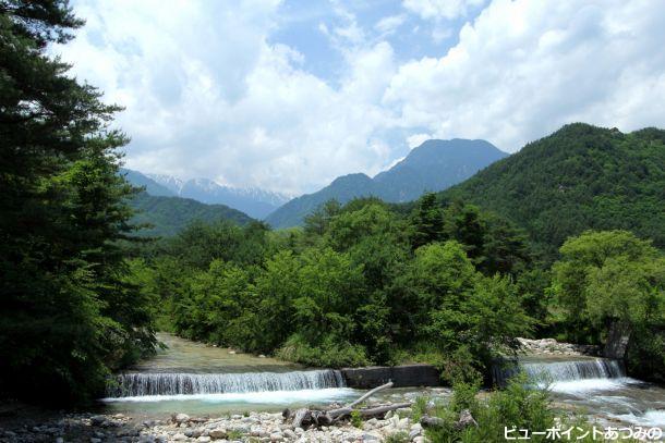 中房川渓谷の夏