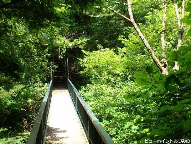 中房川の木橋